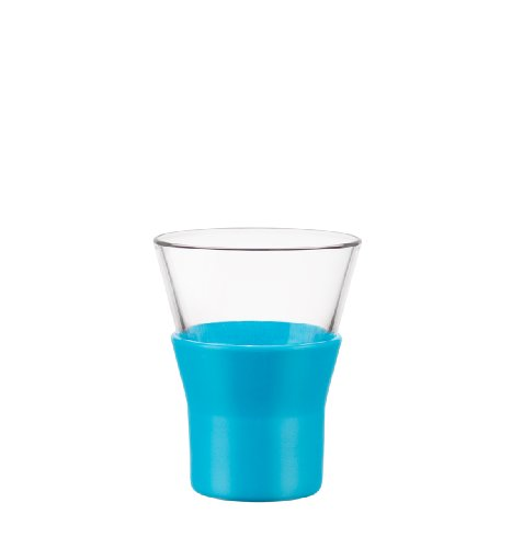 Bormioli Rocco Ypsilon Brio Cappuccino Glasses, Sky Blue, Set of 6 ()