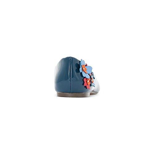 La Redoute Mademoiselle R Frau Ballerinas in Lackoptik mit Blumenapplikation Gre 38 Blau
