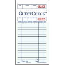 National Checking Company Guest Check Paper - 1 Part Green, 17 Line, 3.5 x 6.75 inch - 5000 per - Accounting Checks