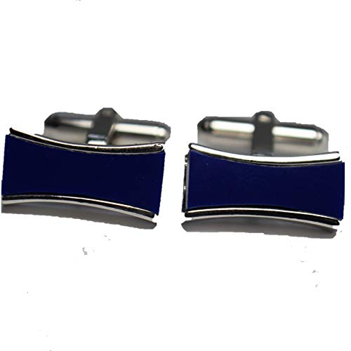 Mario Zegna Deep Blue Rhinestones Elegant Cufflink for sale  Delivered anywhere in USA