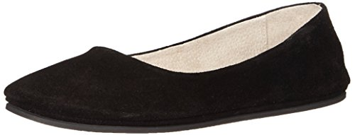 Flats French Suede Sole (French Sole FS/NY Women's Sloop Flat, Black suede, 7.5 M US)