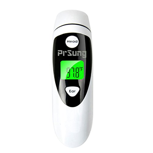 PrSung Baby Ear Thermometer with Forehead Function,Medical Thermometer for Baby Adult and Kids,Instant Read FDA Approved