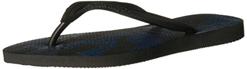 Havaianas Women's Slim Native Sandal, Black/Blue 39/40 BR (9/10 M - Havaianas Shop
