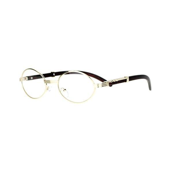 SA106 Art Nouveau Vintage Style Oval Metal Frame Eye Glasses