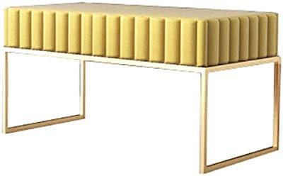 収納ベンチ 金属サポートストレージオスマン帝国のベンチでフットレストパッド入りシート 柔軟 多用途 (Color : Pink, Size : 90x40x45cm)
