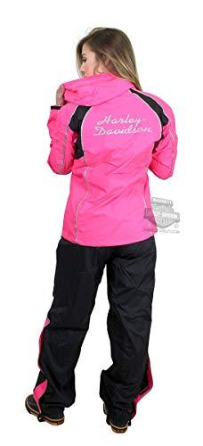 - Harley-Davidson Womens Hi-Vis Reflective Waterproof H-D Script Pink Rain Suit 98362-15VW (Large)