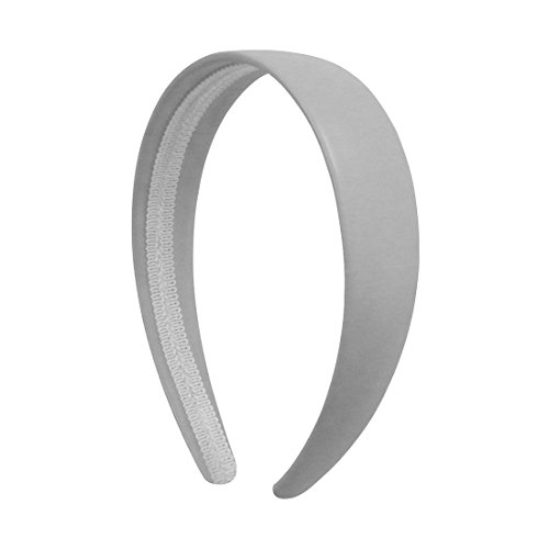 White 1 Inch Wide Leather Like Headband Solid Hair band for Women and - Wide Girls Headband