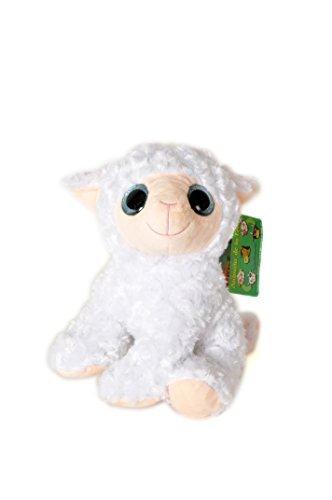 ANIMALS ON THE FARM - Plush Toy Sheep with shiny eyes (9