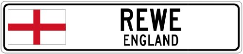 rewe-england-flag-city-sign-6x24-quality-aluminum-sign