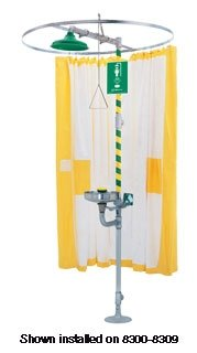 Haws 9037, Privacy Curtain used on Horizontal Emergency Drench Shower or Combination Emergency Drench Shower and Eyewash - Curtain Oasis