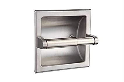 Toilet Paper Holder : Amazon.com: smack brushed nickel recessed toilet paper holder