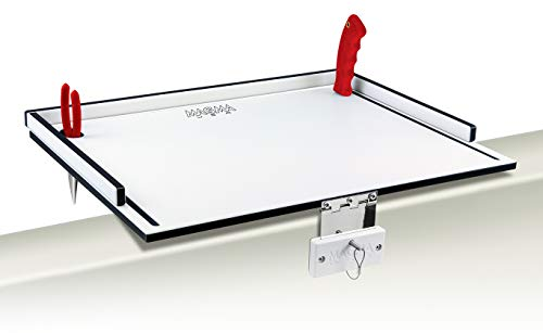 Magma Products, T10-310B Econo Mate Bait and Filet Table, White/Black, 20-Inch