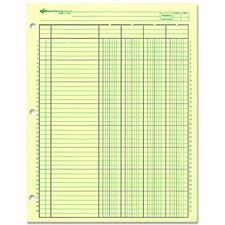 Rediform Office Products : Analysis Pad, 4 Column, 3 Hole, 2-3/8\