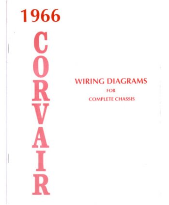 amazon com 1966 chevrolet corvair wiring diagrams schematics rh amazon com Corvair Tachometer Wiring Diagram Coil Wiring Diagram