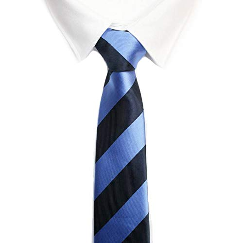 VIZENZO Corbata raya azules intensas: Amazon.es: Ropa y accesorios