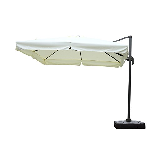Outsunny Offset Patio Umbrella 10 Feet