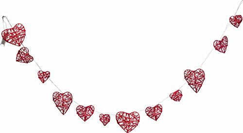 Light Up Valentine's Day Red Heart Garland Decoration - Valentines Home Decor