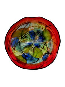 Dale Tiffany AV13107-D20 Hankley Art Glass Wall Decor Plate ()