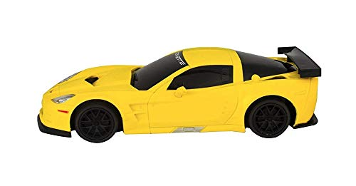 Kids Party Yellow Corvette C6.R Model Car. Corvette Friction Boys Car Toy. Christmas Birthday Gift. Collectable Corvette Display Toy Car. 1:24 Scale Model - Coupe Scale 24 Corvette