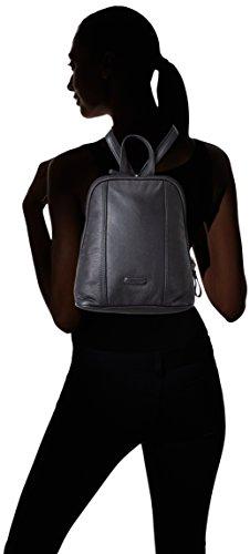 Bodenschatz  Royal Nappa, Sac à main porté au dos pour femme Noir Noir 25x29x10 cm (B x H x T)
