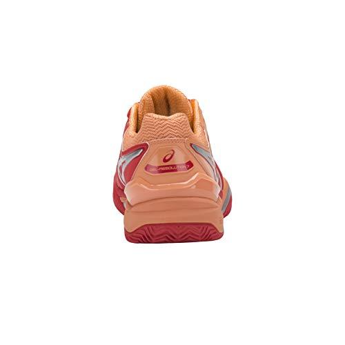 resolution Asics Rouge Tennis Flash Gel Clay Chaussures De 7 Femme argent Hellblau RFr5awqF
