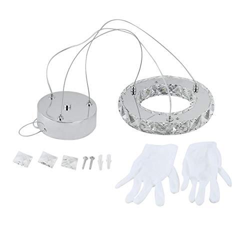 Ring Shape Crystal LED Pendant Light Chandelier Ceiling Lamp for Living Room Bed Room Parlor Indoor Lighting ()