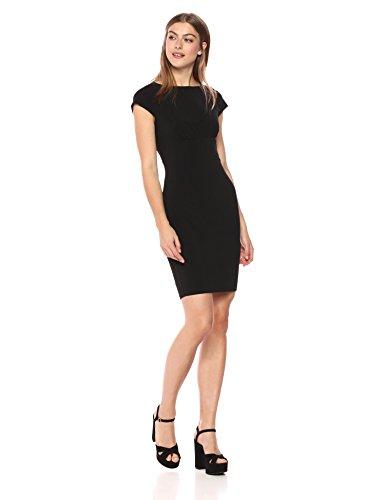 Wild Meadow Women's Bodycon Sheath Dress w/Back Lace Panel S (Lbd Little Black Dress)