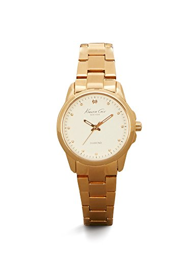Kenneth Cole New York Women's 'Diamond Rock Out' Quartz Stainless Steel Dress Watch, Color:Gold-Toned (Model: 10026480)