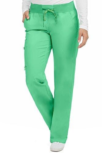 - Med Couture Scrub Pants Women, Yoga Cargo Pocket Scrub Pant, Large, Clover