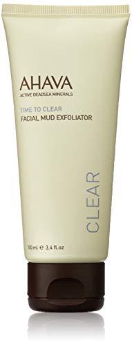 AHAVA Time to Clear Facial Mud Exfoliator, 3.4 Fl Oz