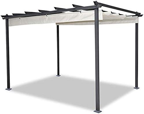 IDMarket - Pérgola de techo retráctil de 4 pies y 3 x 4 m en color ...