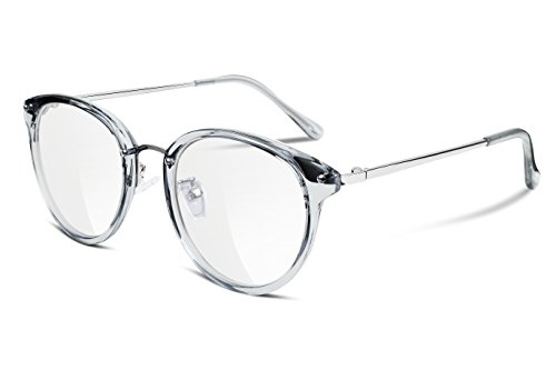 FEISEDY Clear Lens Glasses Frames Cozy Composite Frame Eyewear Women Men - Eyeglasses Parts Frame