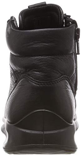 Mujer Schwarz Botines Aquet black Para Ecco 1001 qwvFPzxR