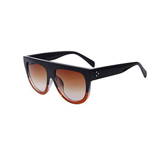 Women Classic Brand Sunglasses Designer Rivet Oversize Shield Glasses UV400 - Ray Bandz