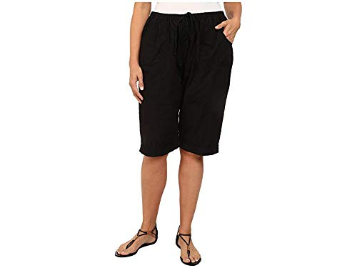 Fresh Produce Women's Plus Size Park Ave Pedal Pusher Black Shorts 3X X 12.5