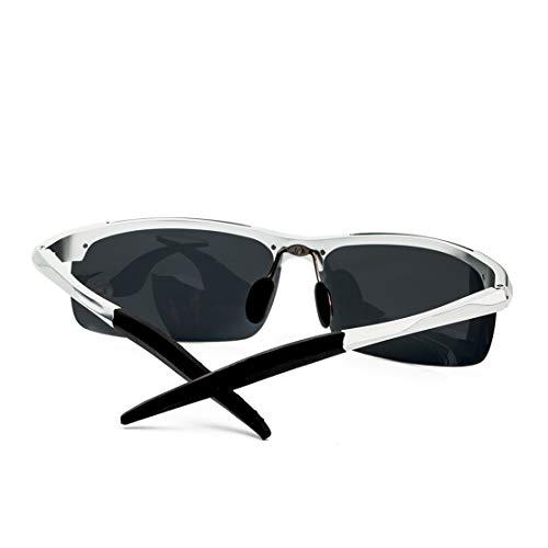 Black Aluminium Silver De Black Sport Magnésium Lens Lens Couleur Polarisées Frame Lunettes De Soleil de Frame Claires Lunettes Soleil en Black Soleil Lunettes des TLMY wC5xHX1q