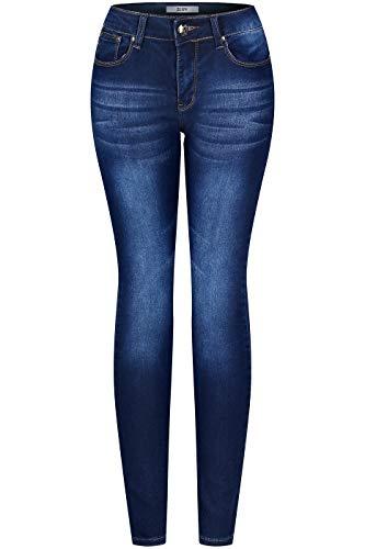 2LUV Women's Stretchy 5 Pocket Medium Denim Skinny Jeans Medium Denim ()