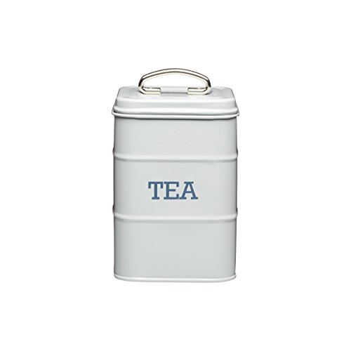 Tea Canister Vintage (Living Nostalgia Tea Canister, 11x17cm, Grey, Tagged)
