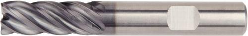 0.5 mm Radius AlTiN Coating Carbide RH Cut 9 mm Cutting Diameter 5-Flute Straight Shank WIDIA Hanita 577C09004T VariMill II 577C HP End Mill
