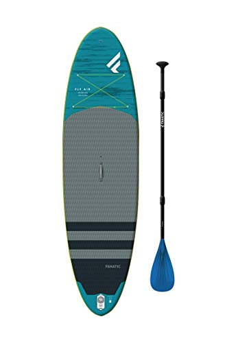 Fanatic Fly Air Premium 10'8″ Inflatable SUP Stand Up Paddle Boarding Package – Board, Bag, Pump & Carbon 25 Paddle