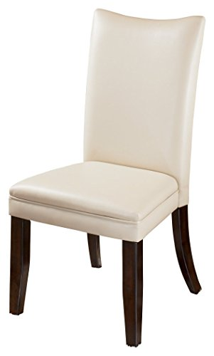 'Ashley Furniture Signature Design - Charrell Dining Side Chair - Curved Back - Set of 2 - Ivory' from the web at 'https://images-na.ssl-images-amazon.com/images/I/314Rjf5AJlL.jpg'