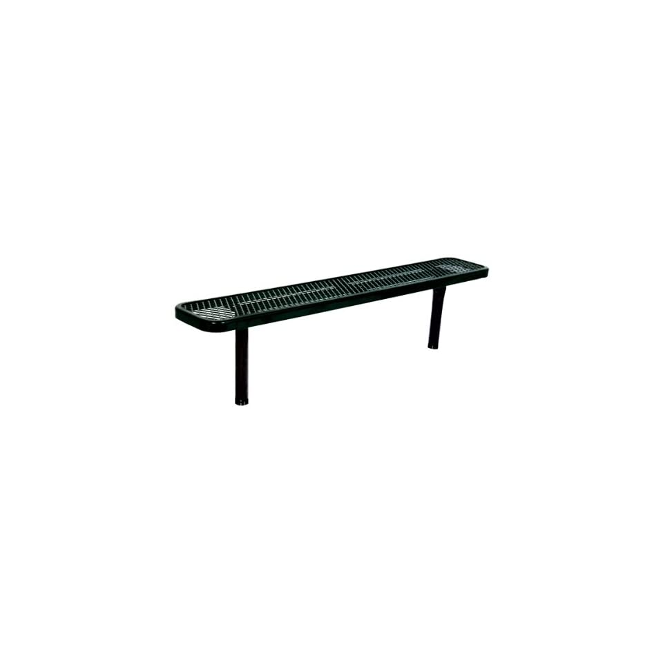 942 Series Park Bench   Diamond Expanded Metal   Inground Mount (6' L)  Outdoor Benches  Patio, Lawn & Garden