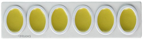 PRANG Refill Pans for Oval Watercolor Paint Set, 12 Pans per Box, Yellow (00803)