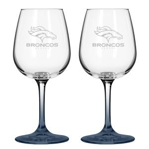 Boelter NFL Denver Broncos Wine Glass (2-Pack) ()