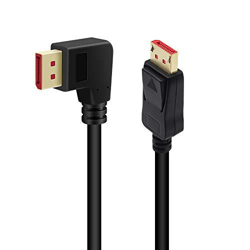 cable displayport con angulo de 90 grados 1.4 8k 60hz 4k 144