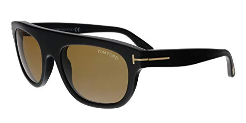 84cd86e79a Tom Ford FT0594 01E Federico-02 Black Rectangular Sunglasses for Mens