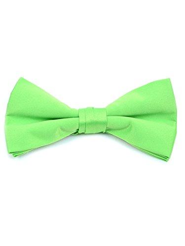 Men's Neon Green Pre-tied Clip On Bow Tie - Formal Tuxedo Solid -