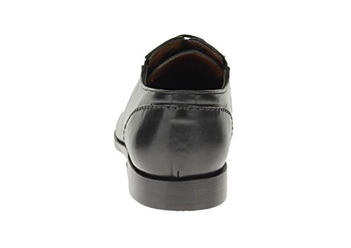 Luciano Natazzi Heren Volledig Lederen Moderne Veterschoen Sl306 Zwart