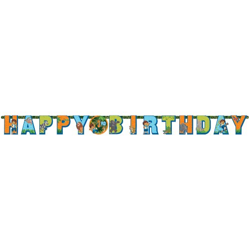 Amscan Festive Diego's Biggest Rescue Jumbo Add-An-Age Letter Happy Birthday Party Banner Decoration (1 Piece), Multicolor, 10 1/2' x 10
