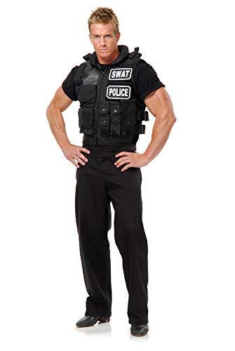 Swat Team Vest Adult Costume, One Size,